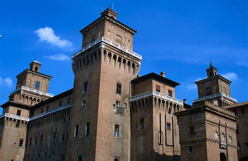 The square towers of Castello Estense