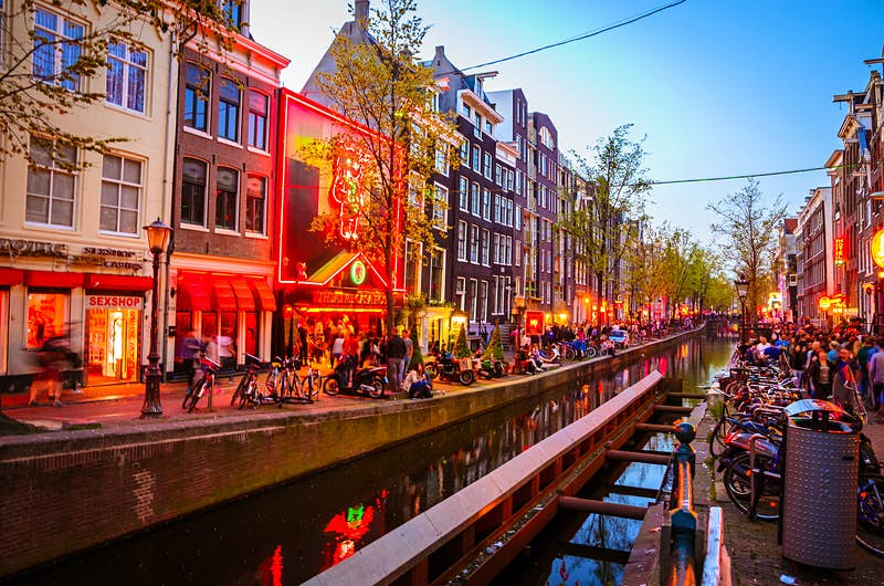 Educate yourself on the Red Light District with a walking tour run by the Prostitution Information Centre © Olena Z/Lonely Planet