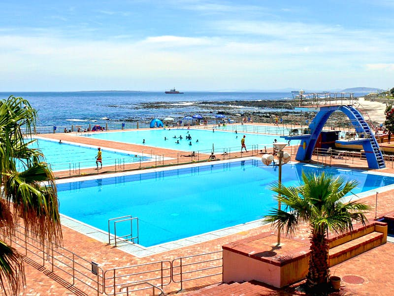 A view over the ocean pools at Cape Town's Sea Point Pavilion