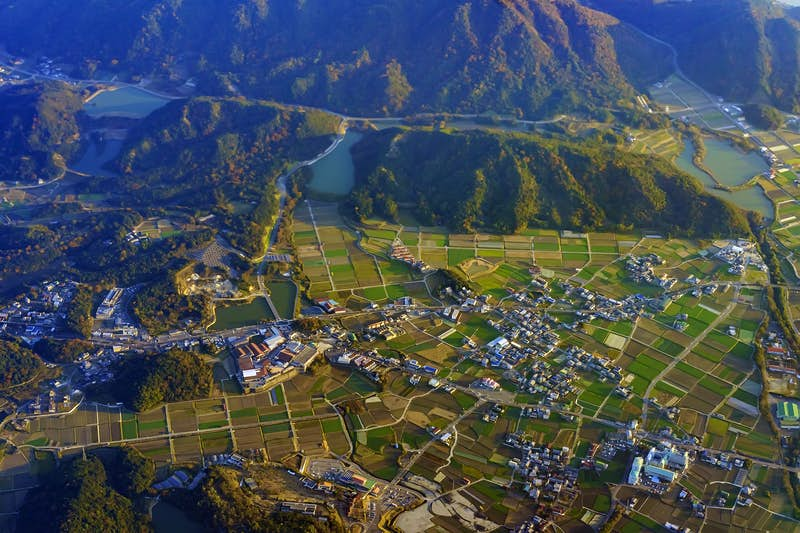 Features - Aerial view of Wakayama
