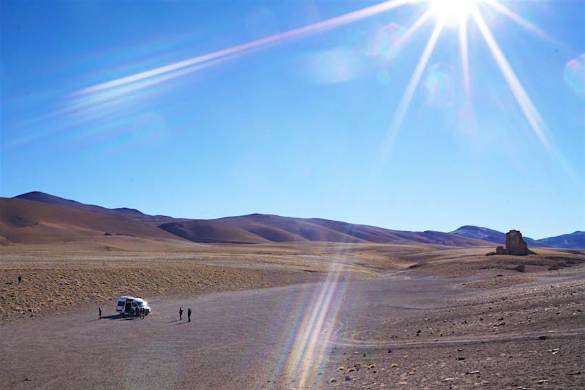 A tour van in the Atacama Desert, Chile
