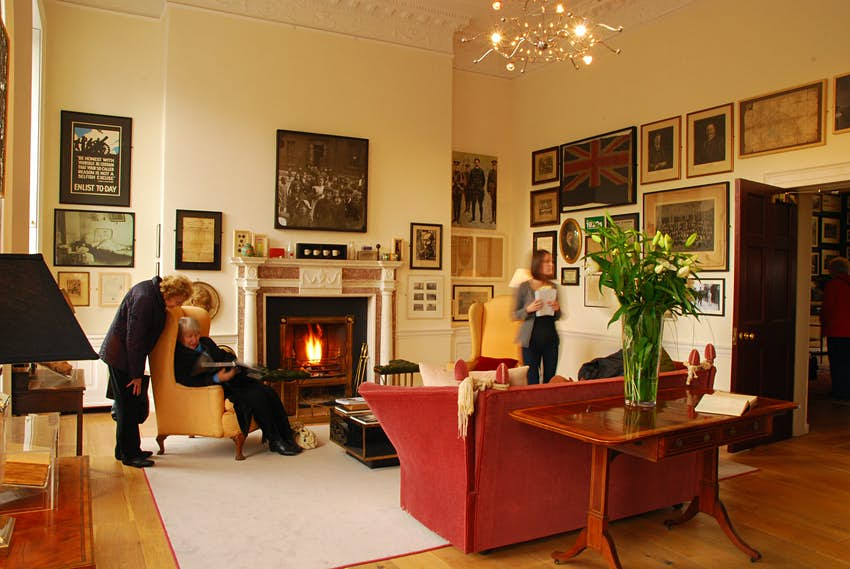 An interior room of the Little Museum of Dublin, which occupies a lovely Georgian townhouse