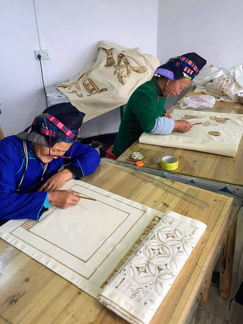 Batik is a traditional craft of the Miao people © Megan Eaves / Lonely Planet