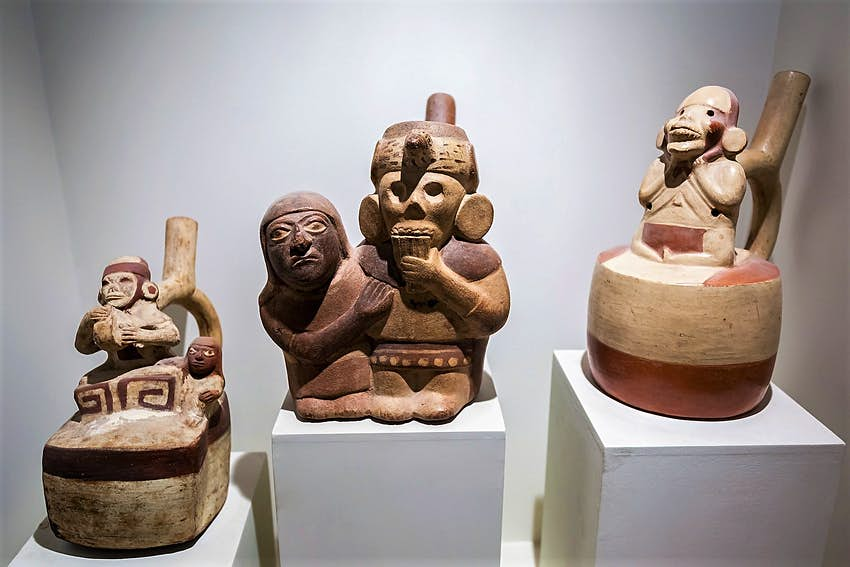 Erotic pottery in the Lima's Larco Museum