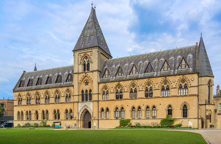 The imposing Victorian Gothic home of the Pitt Rivers and Natural History museums