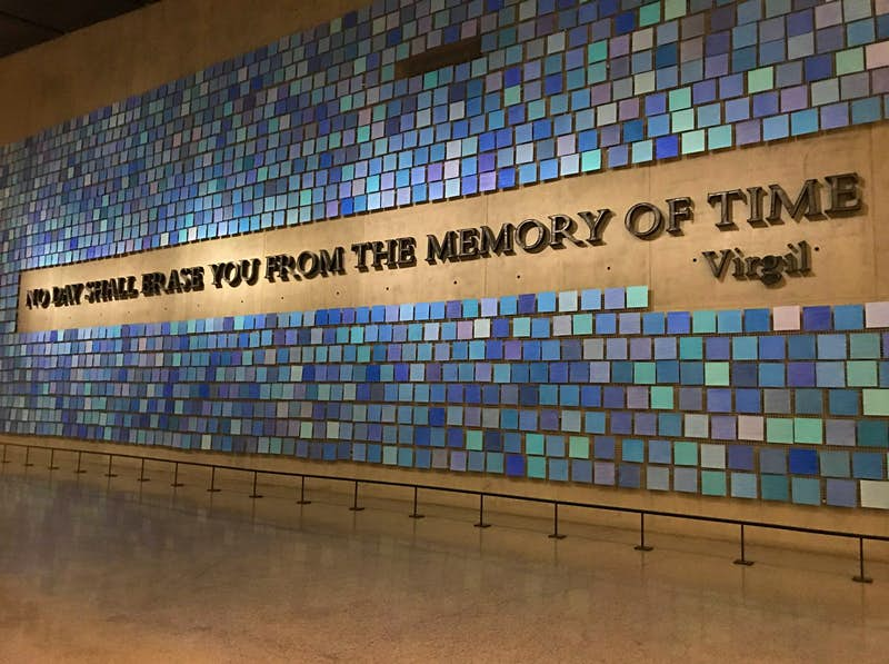A mural featured in the 9/11 Memorial Museum