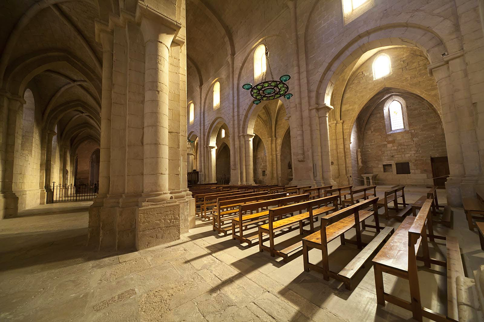Monastery of Santa Maria de Poblet, located in the region Conca de Barberà, in Catalonia.