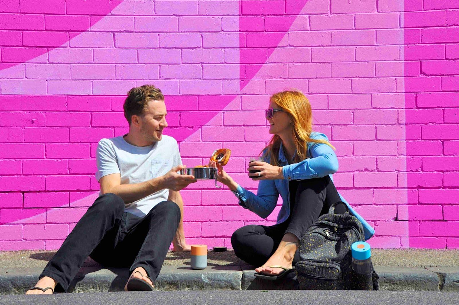 Die Blogger für nachhaltigen Lebensstil, David Meadway und Vicky Ellmore