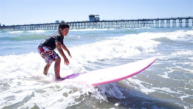 Features - 10 year old Korean Boy Surfing