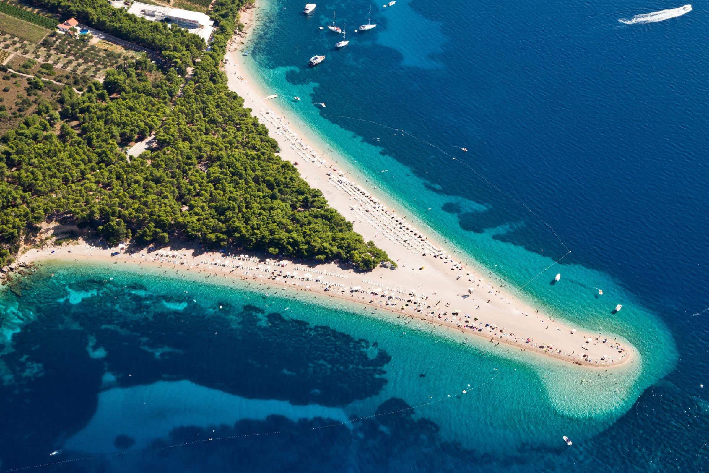 Zlatni Rat in Croatia has been voted the world's best beach (c) Simone Simone/Getty Images