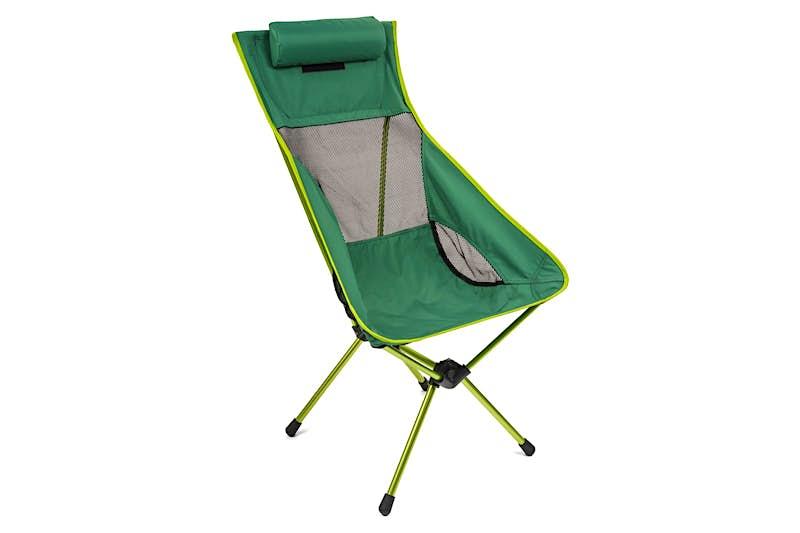 A green camp chair; beach gear