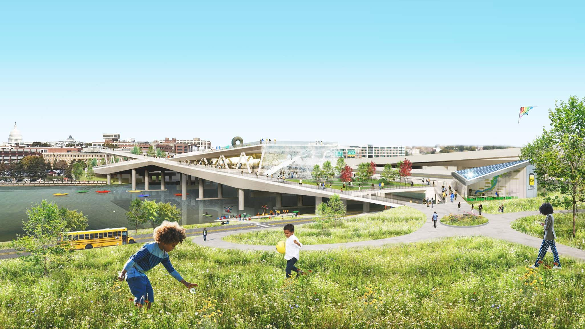 Washington's first elevated park is scheduled to open in 2023. Image courtesy of OMA+OLIN