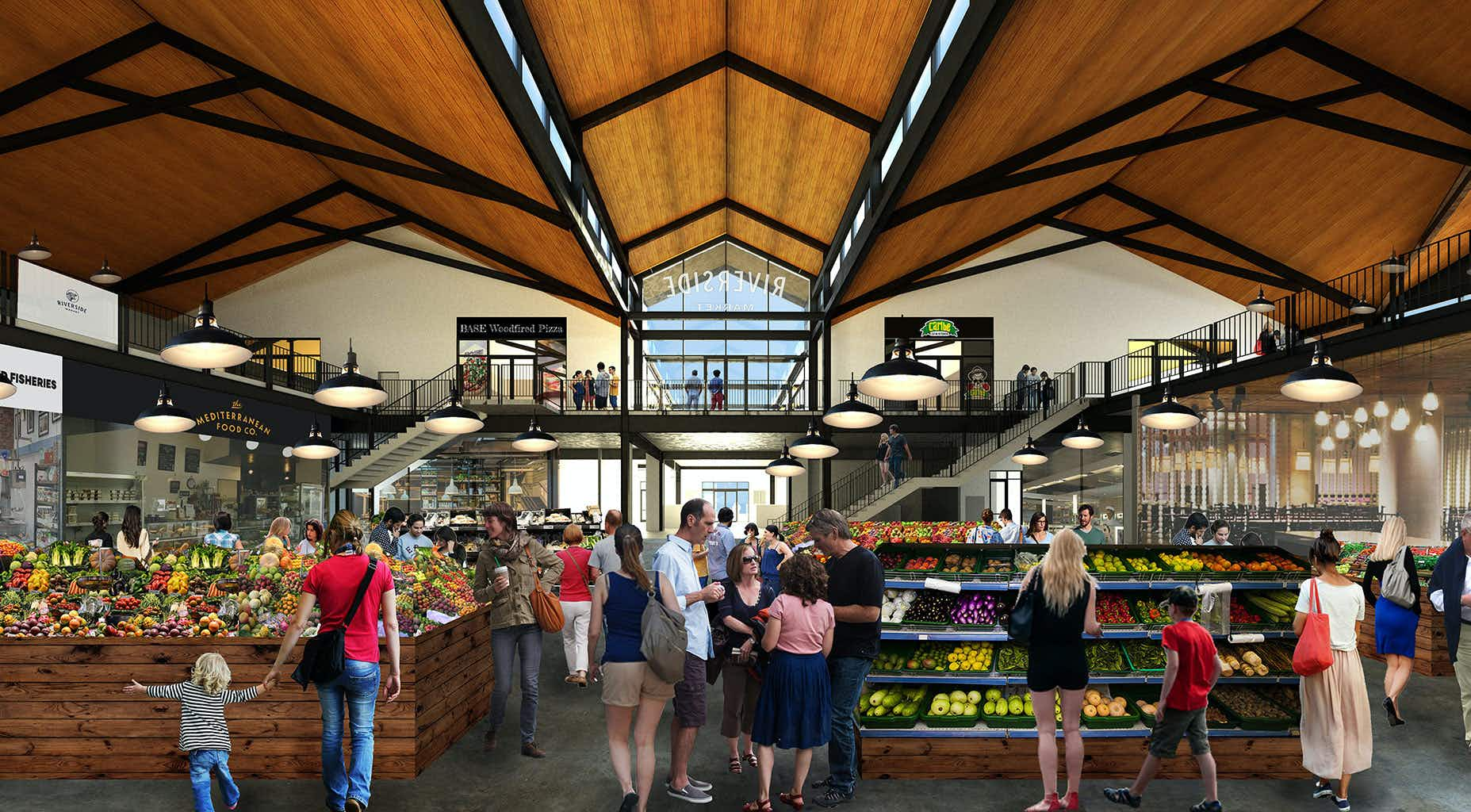Riverside Market is bringing food-hall culture to Christchurch's CBD. Image by Riverside Market