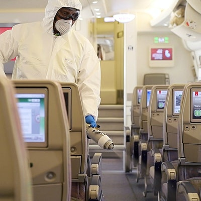 How airlines are trying to ensure coronavirus does not spread on board planes