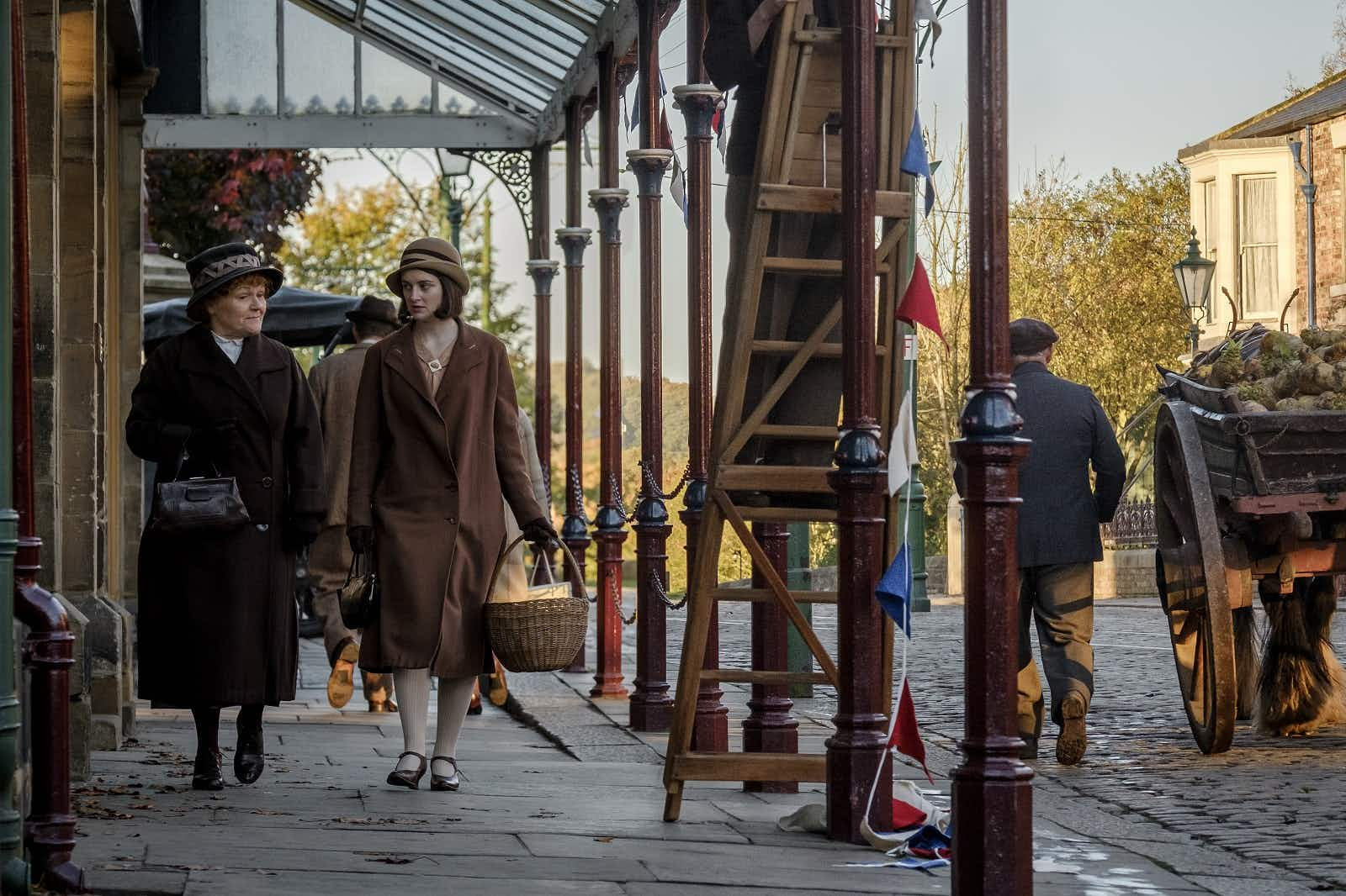 Carson strides away from the great house of Downton Abbey © 2019 FOCUS FEATURES LLC. ALL RIGHTS RESERVED