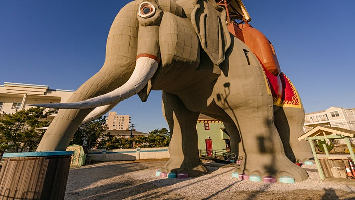 Lucy the Elephant is now hosting guests for overnight stays