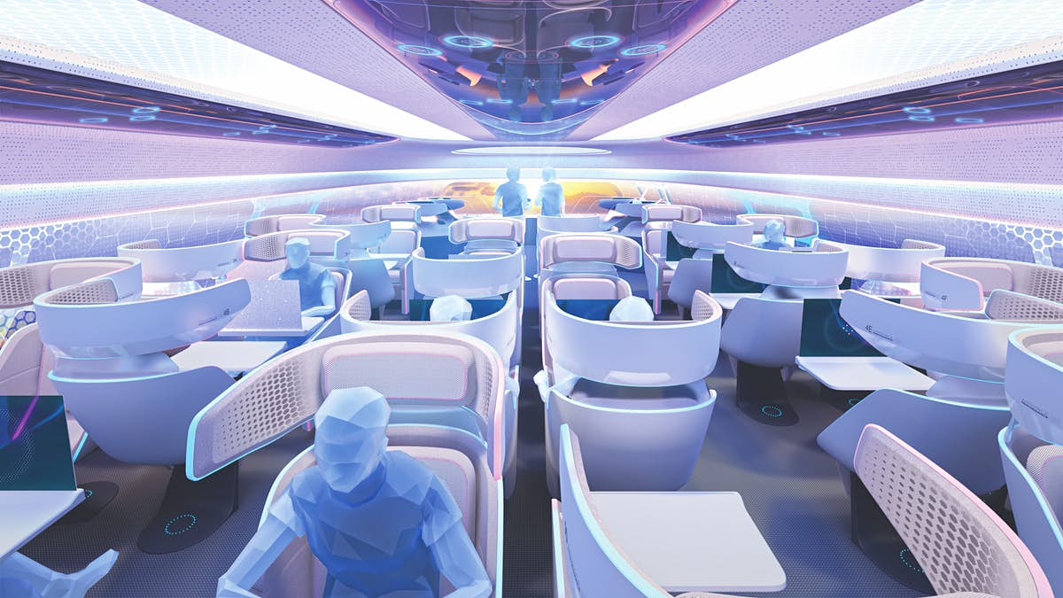 Designers are imagining the aircraft cabins of the future