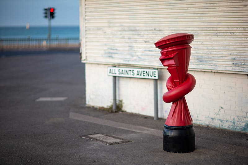 Knotted postboxes have popped up across England
