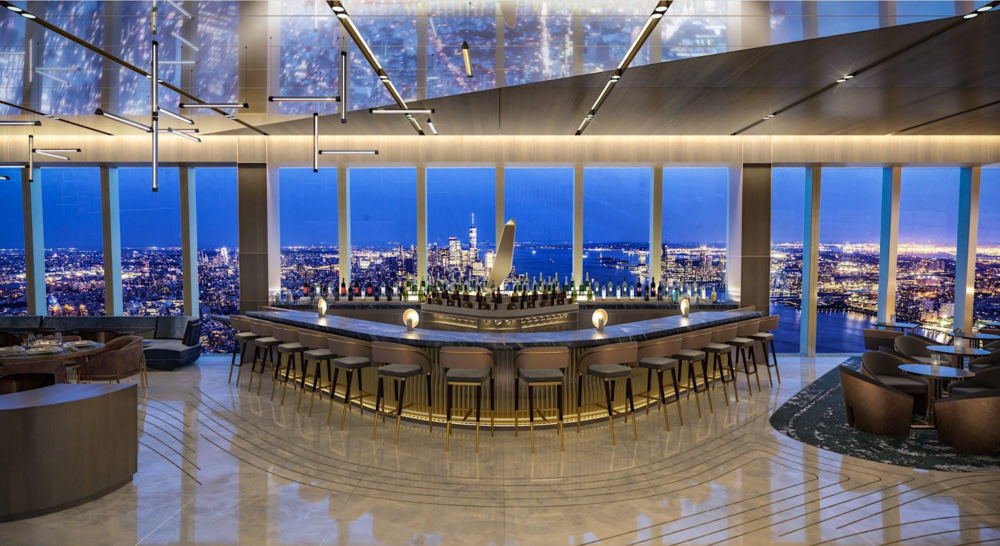Este restaurante no 101º andar terá vistas deslumbrantes da cidade de Nova York