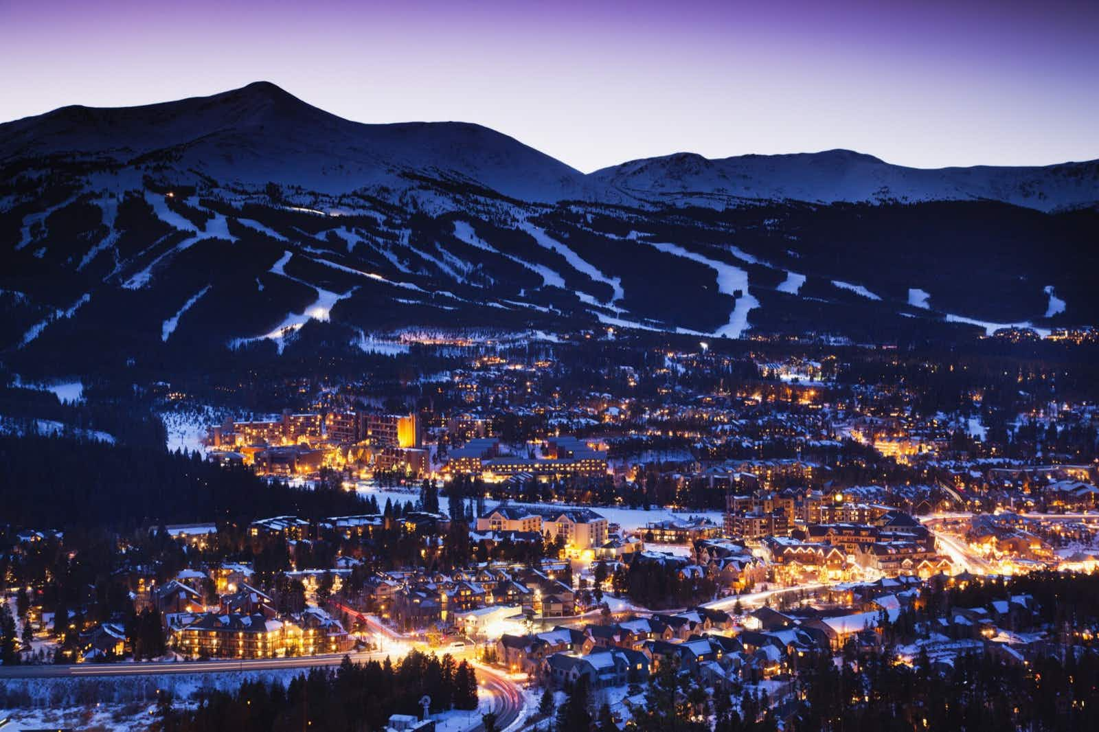 Breckenridge, Colorado has a charming downtown for shopping and dining as well as numerous art galleries, festivals and spas to enjoy © Walter Bibikow / Getty Images