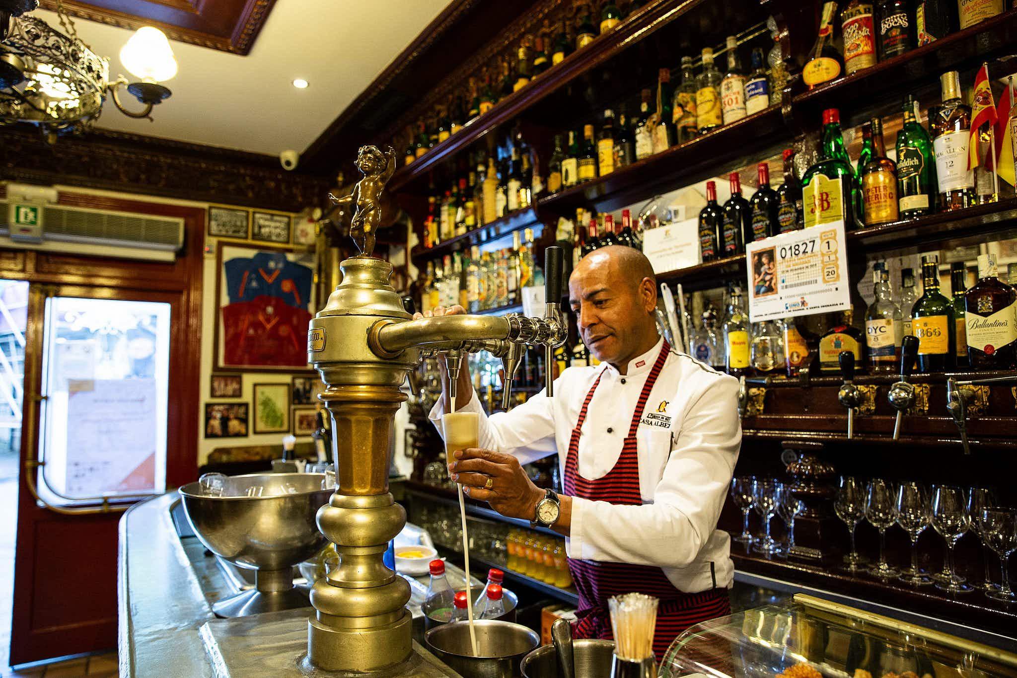 Madrid's oldest restaurants and bars offer tapas, vino and history