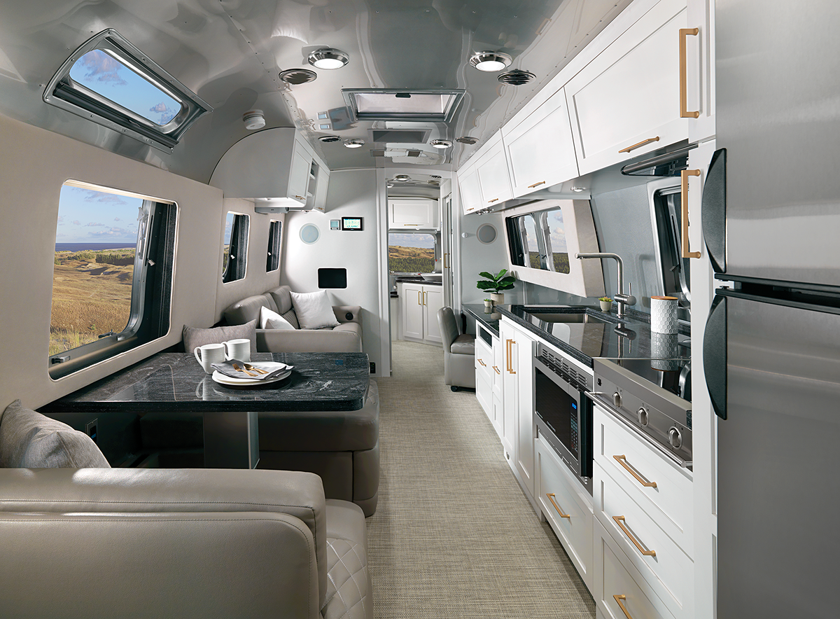 The classic Airstream Travel Trailer gets a deluxe interior upgrade