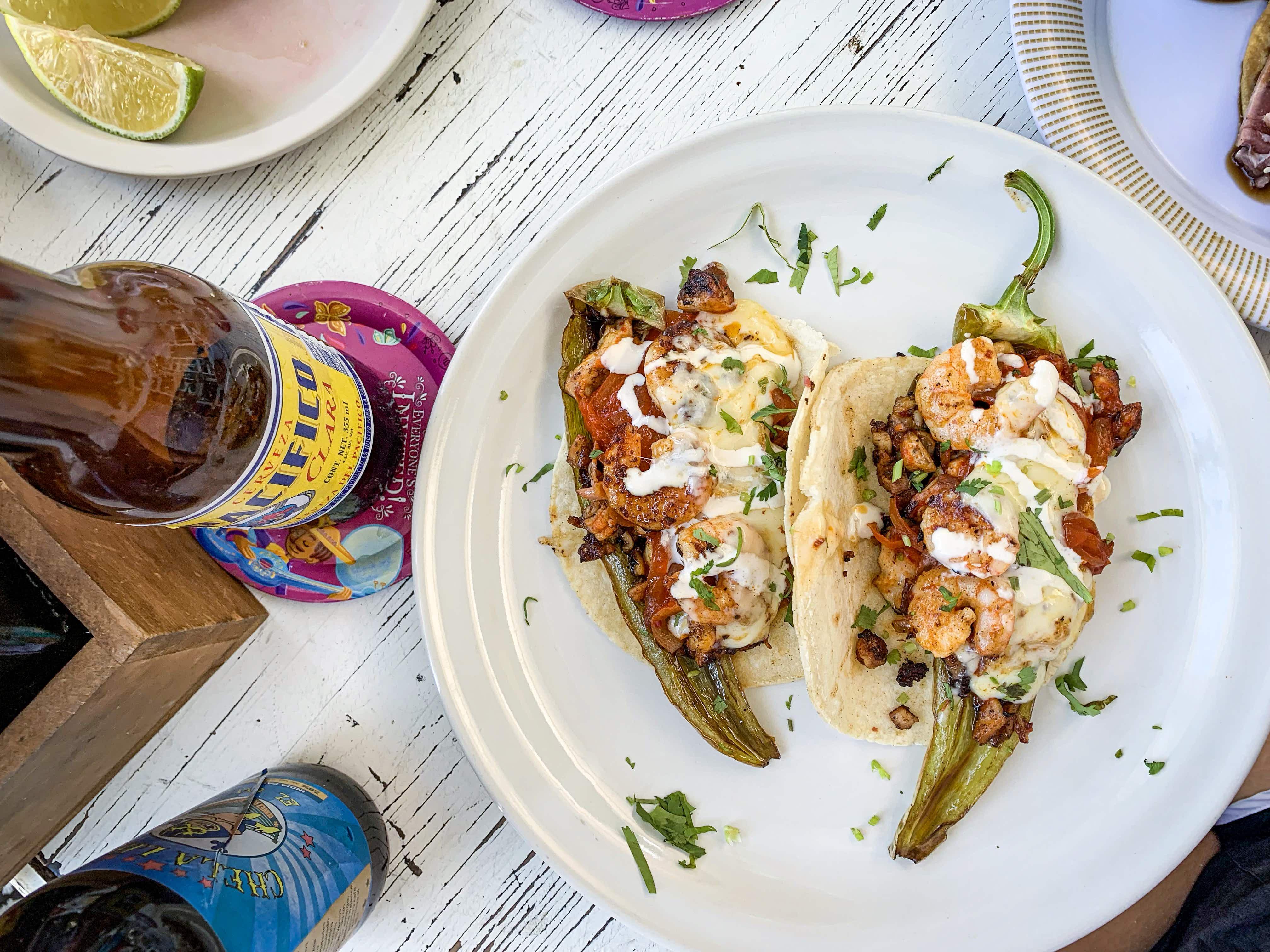 The amazing Chilaca taco is worth a special trip to El Curandero © Bailey Freeman / Lonely Planet