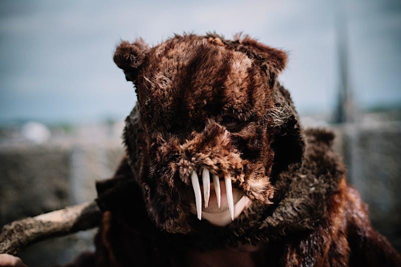 A bear mask.