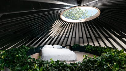 How about building your own paradise inside a modern yurt