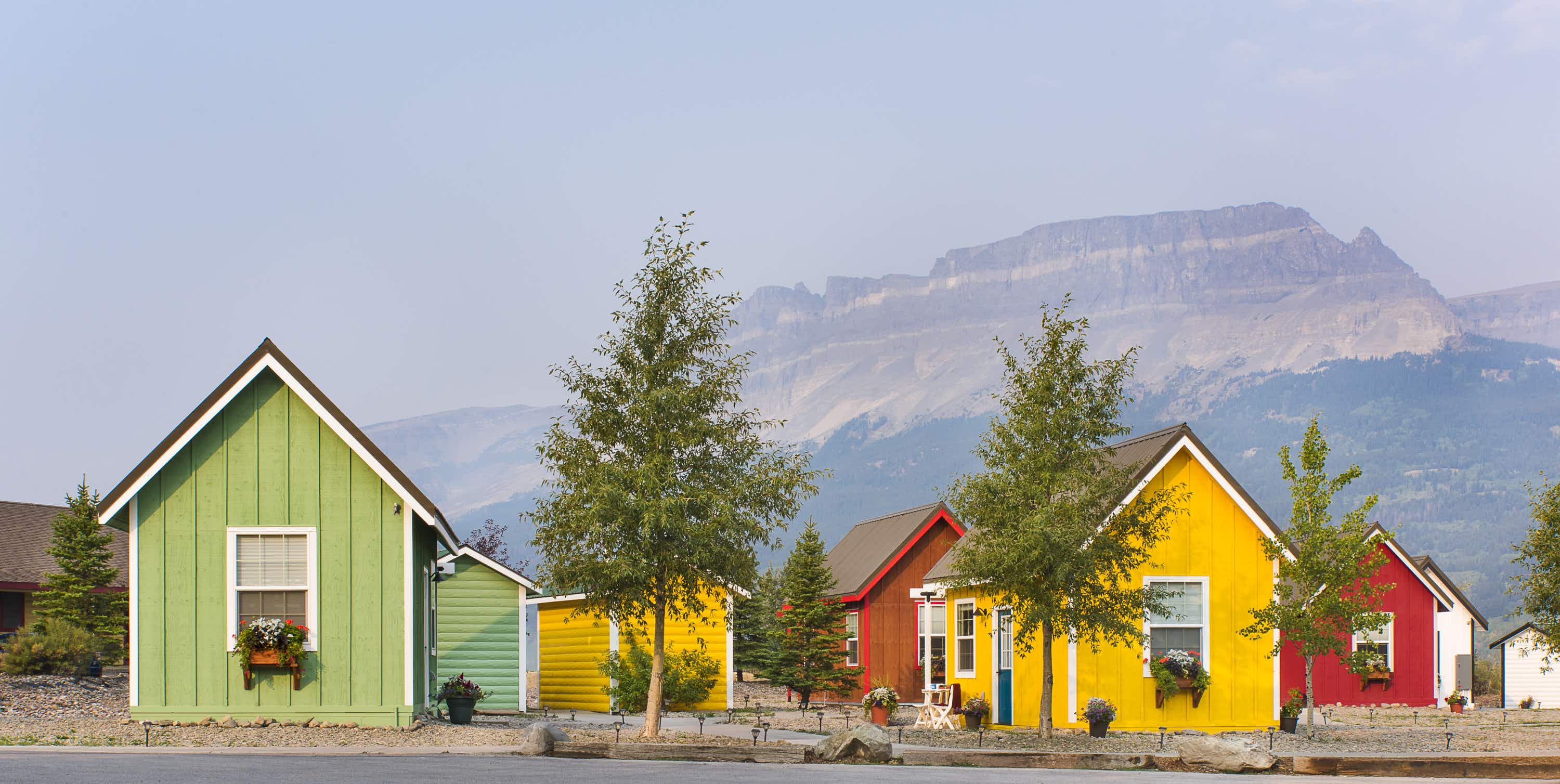 The tiny home trend has come to Glacier National Park with the Tiny Home Village at St Mary's Village. Image by Tiny Home Village