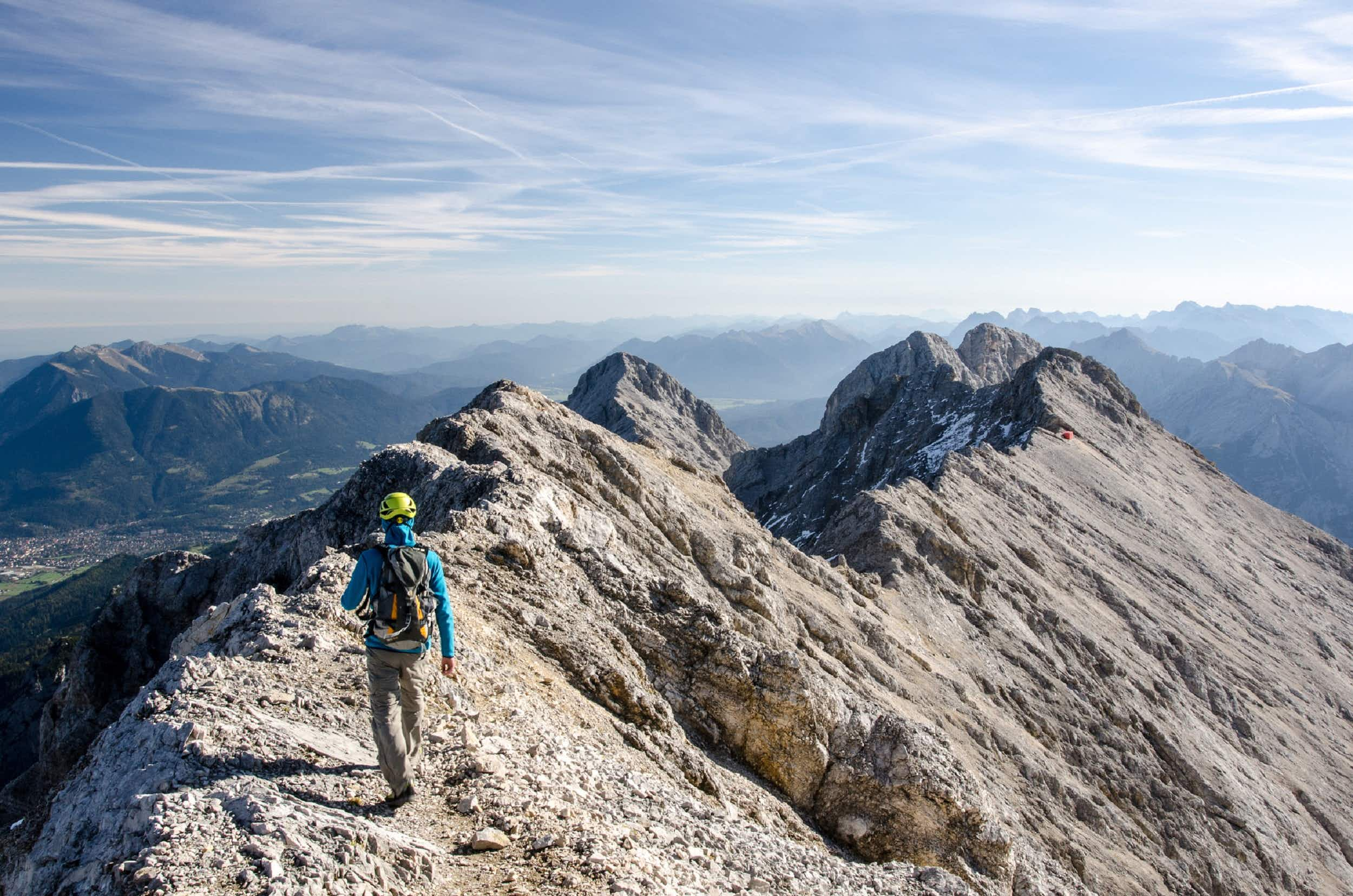 The mountains of Garmisch-Partenkirchen offer rich pickings for hikers, skiers and rock climbers © Simon Koeppl / EyeEm / Getty Images