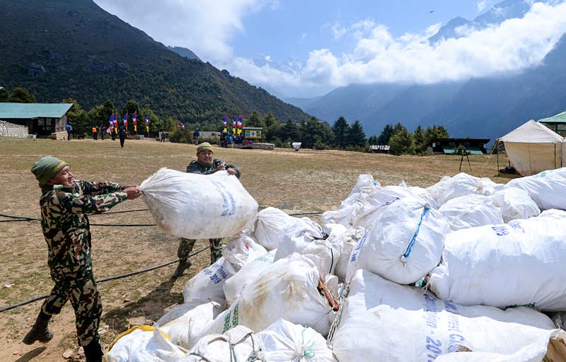 Single-use plastics banned in Everest after major trash haul
