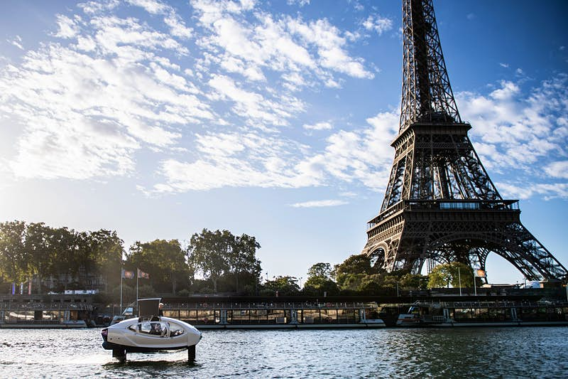 Paris tests 'flying water taxis' as an eco-friendly way to bypass traffic