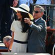 George and Amal Clooney arriving at their civil ceremony in Venice © Robino Salvatore / Getty Images