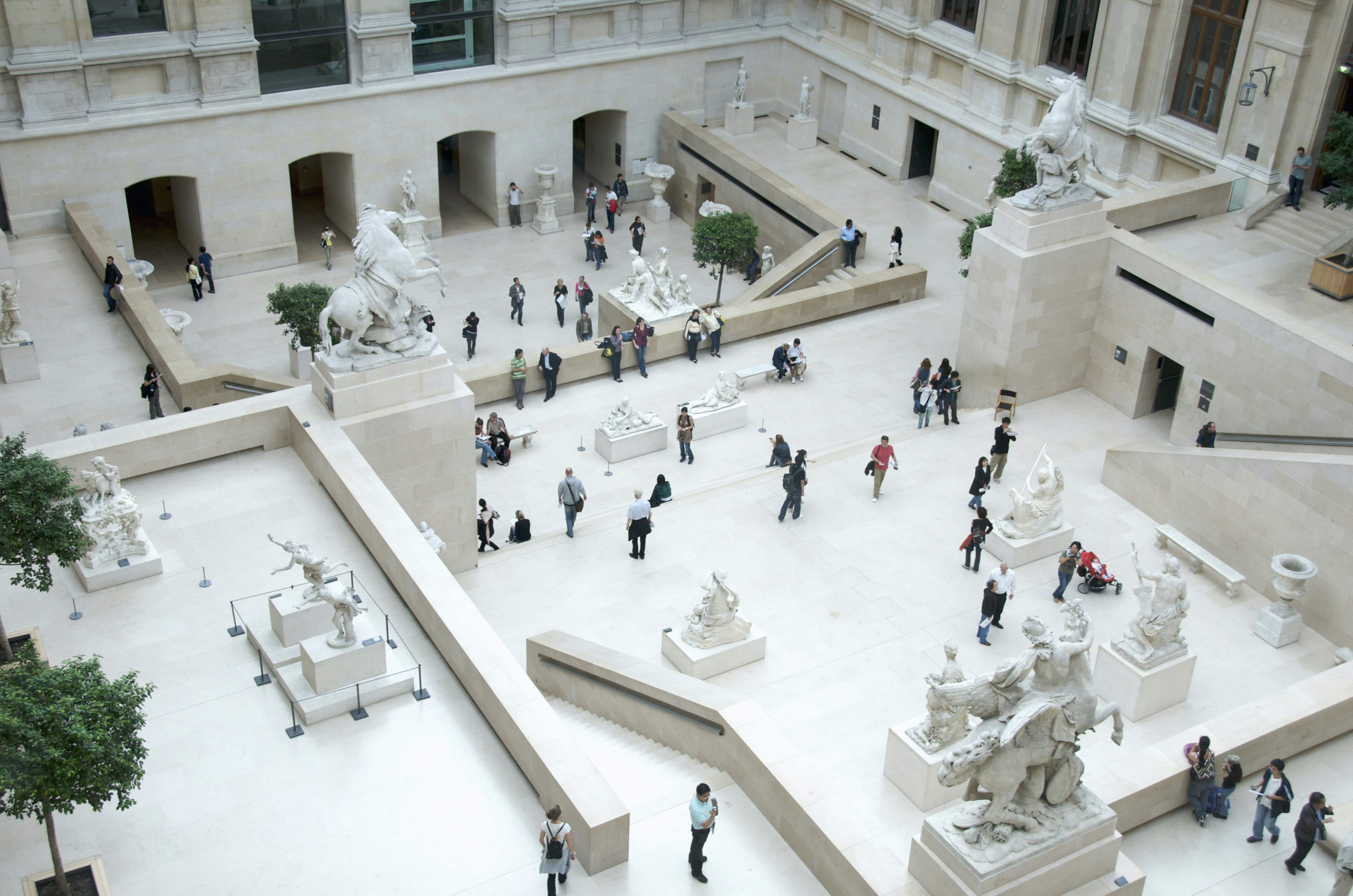 The Cour Marly is filled with 17th- and 18th-century French sculptures © Bernard Jaubert / Getty Images