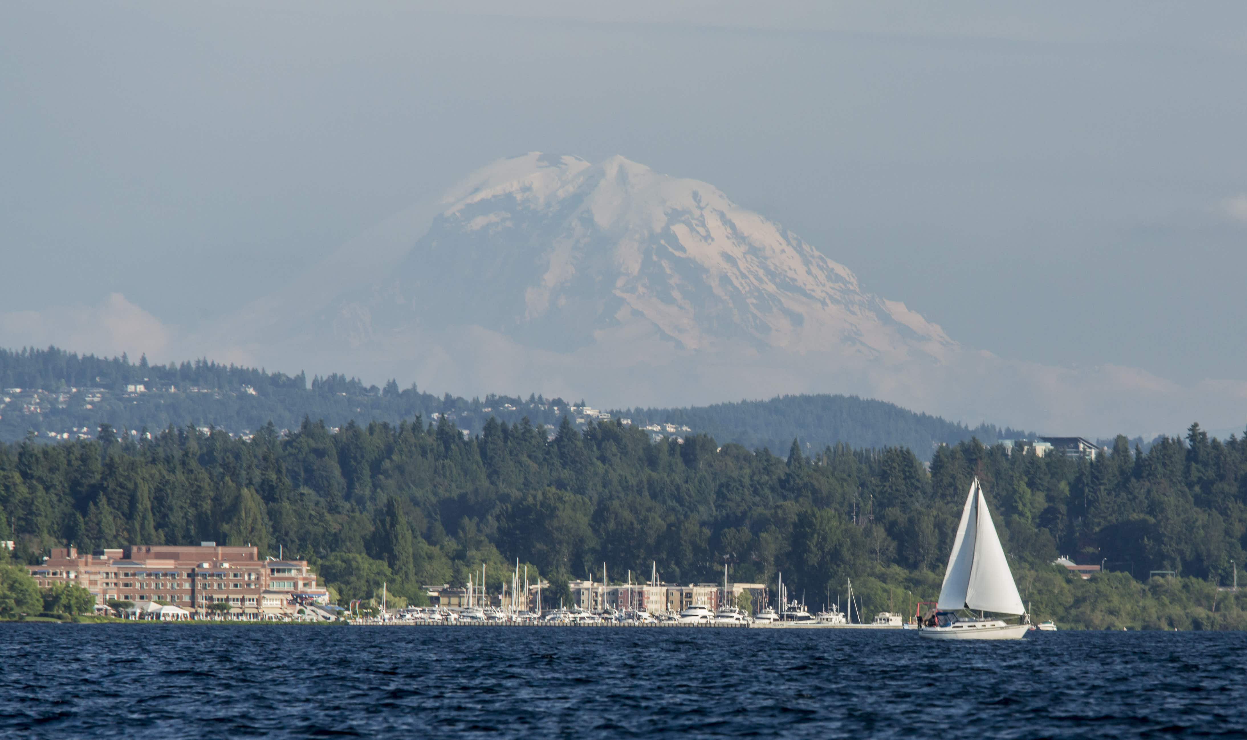 Like Seattle, Kirkland affords beautiful views of Mt. Rainier from a variety of scenic outdoor destinations within the city © John & Lisa Merrill via Getty Images