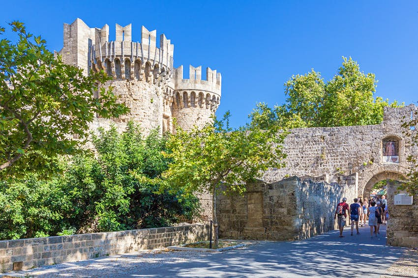 Ancient castle nudism