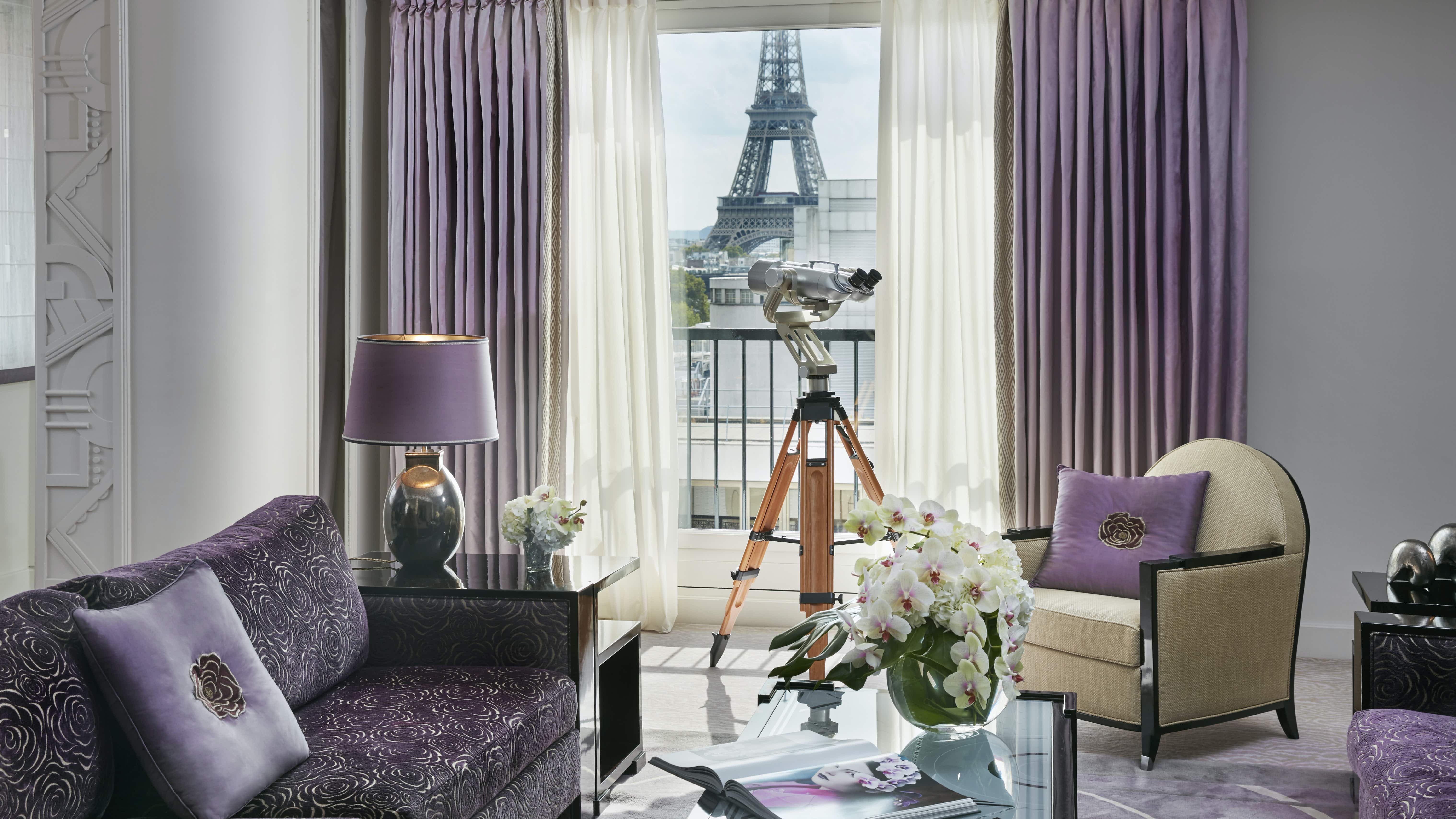 "Talk about ""A Room with a View,"" this hotel affords numerous views of Paris' most iconic sites, including the Eiffel Tower © Francis Amland courtesy of the Dorchester Collection"