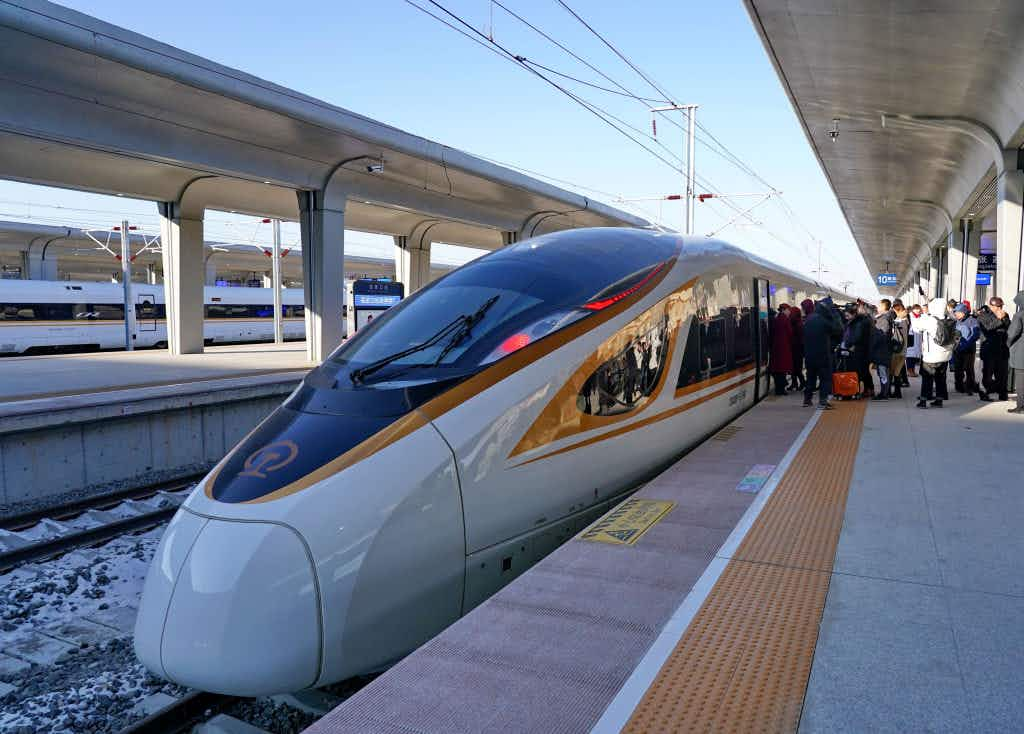The world's fastest autonomous bullet train launches in China