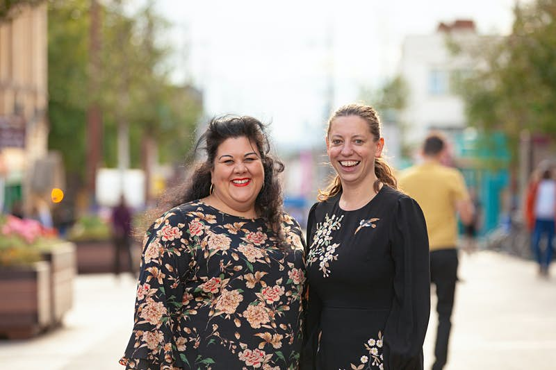 Night Czar, Amy Lamé, pictured with the leader of Waltham Forest Council, Clare Coghill