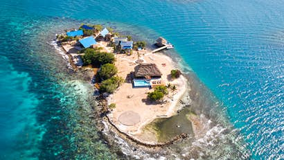 Rent this new private coral island located off the coast of Belize