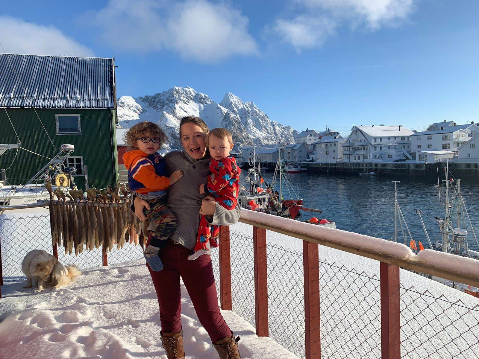 Terry Ward and her kids in Norway © Terry-Ward.com / Lonely Planet