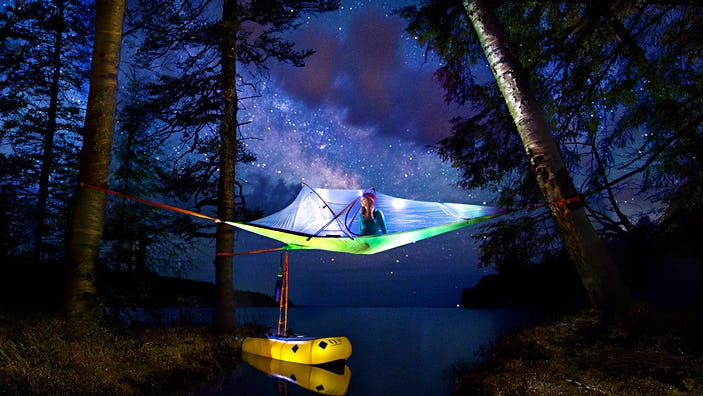 Tentsile is a cross between hammock and tent camping that gives you even greater flexibility about where outdoors to call home for the night © Linked Ring Photography courtesy of Tentsile