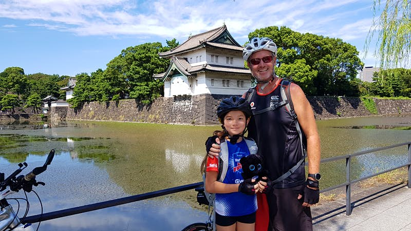 An 11-year-old New Zealander is cycling across Japan for the Rugby World Cup