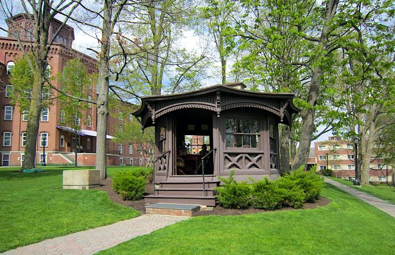 Mark Twain's octagonal study, built on the grounds of Quarry Farm in Elmira