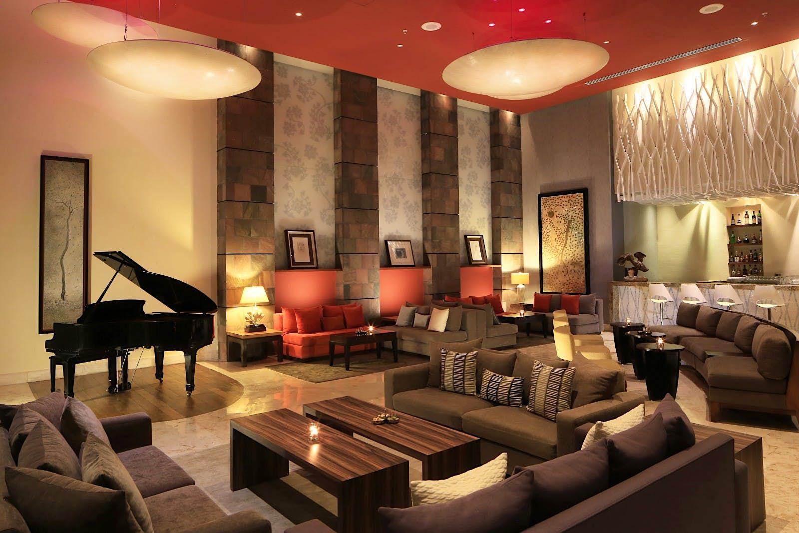O piano bar no Grand Velas Riviera Maya