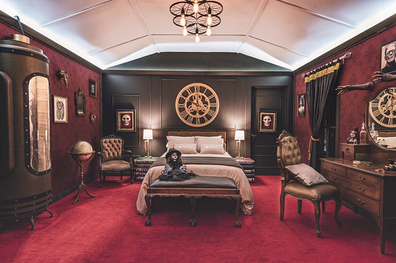 A hotel suite inspired by Guillermo del Toro's monsters is bookable in Guadalajara