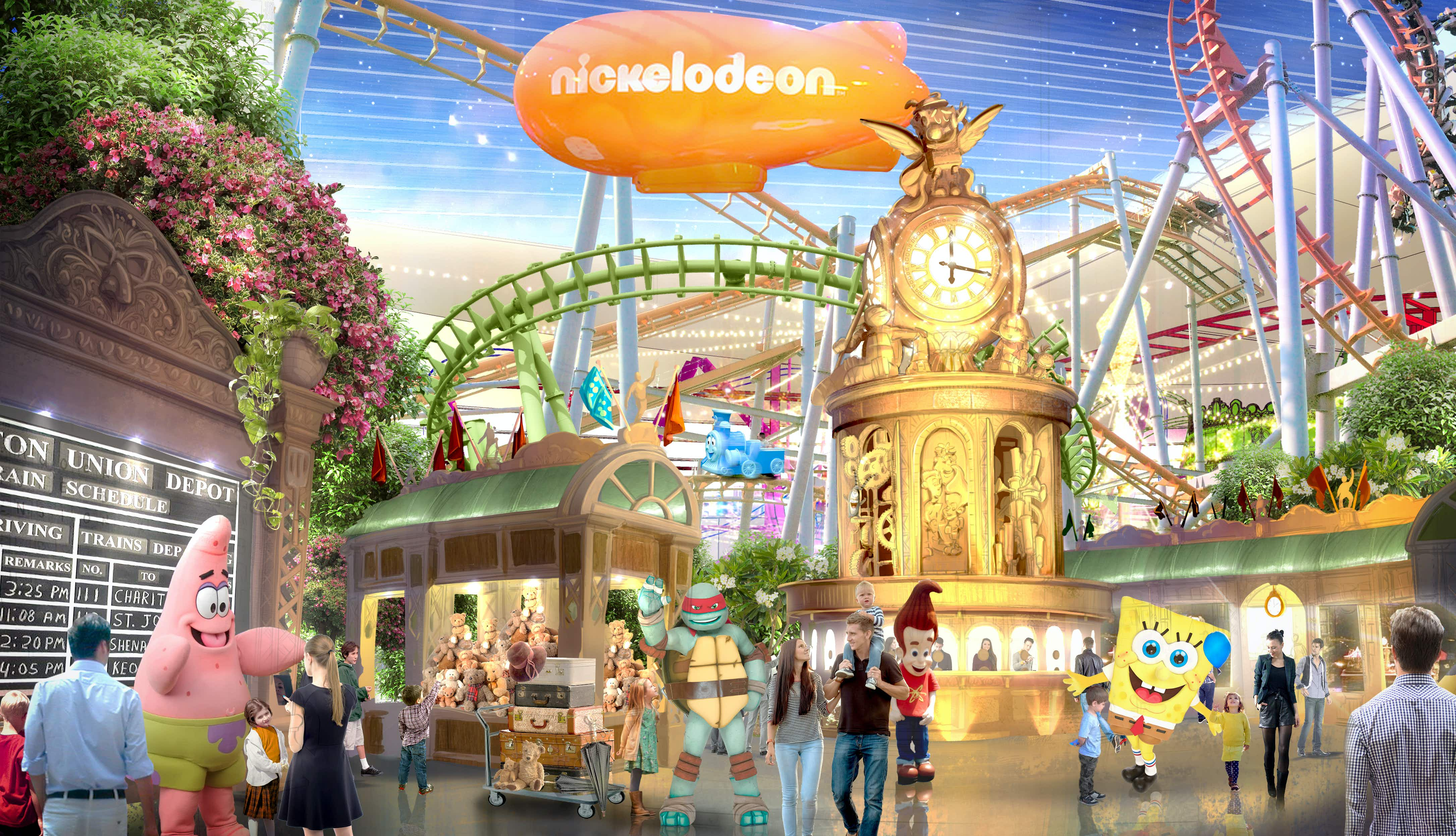 Rendering of Nickelodeon Universe theme park at American Dream. Image by American Dream