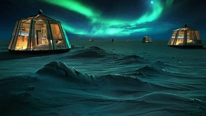 For one month, you can spend the night in an igloo at the North Pole