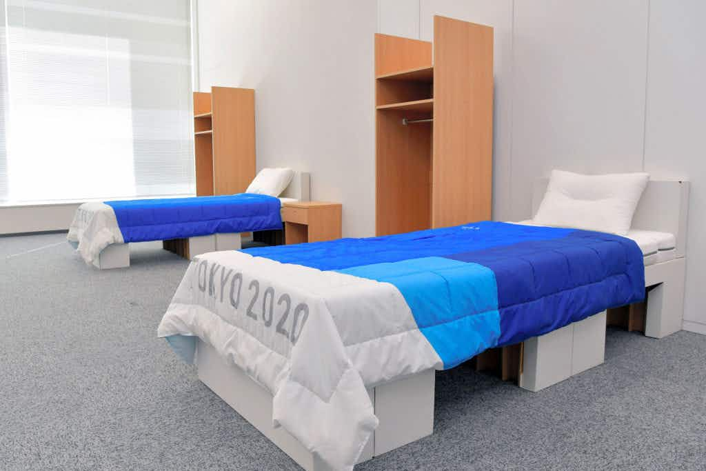 Athletes at the Tokyo 2020 Olympics will sleep on eco-friendly recyclable cardboard beds